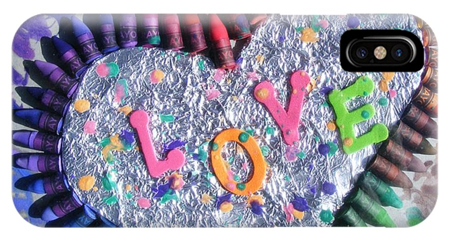 Love IPhone X Case featuring the mixed media Love by Misty Clark