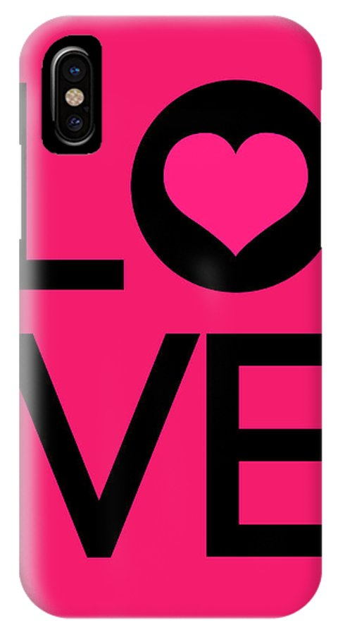 Love IPhone X Case featuring the digital art Love Poster 5 by Naxart Studio