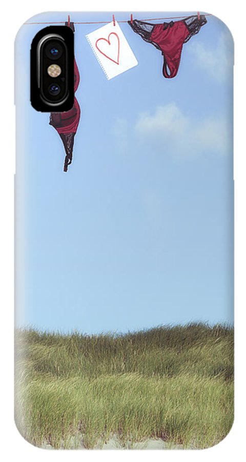 Sheet IPhone X Case featuring the photograph Loveletter From Cloud 9 by Joana Kruse