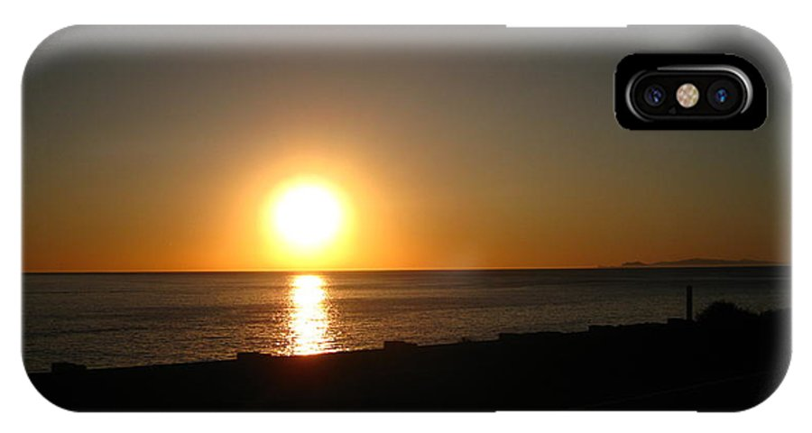 Sunset IPhone X Case featuring the photograph Lovely by Adrienne Cook