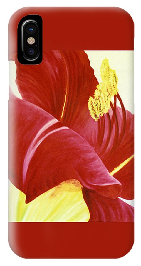 Floral Print IPhone X / XS Case featuring the painting Lovely Lily Floral Print by Diane Jorstad