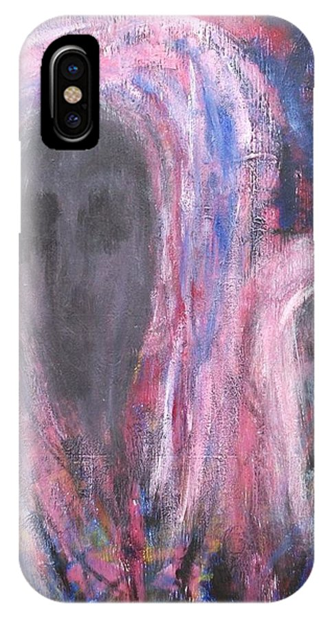 Ghosts IPhone X Case featuring the painting Loving Spirits by Randall Ciotti
