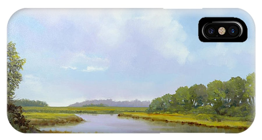 St. Simons IPhone X / XS Case featuring the painting Lowcountry Afternoon by Glenn Secrest