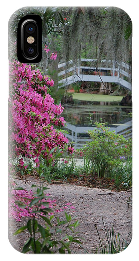 Garden IPhone X Case featuring the photograph Lowcountry Series II - Ode To Monet by Suzanne Gaff
