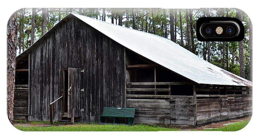 Barn IPhone X Case featuring the photograph Lowe Barn by Carol Bradley