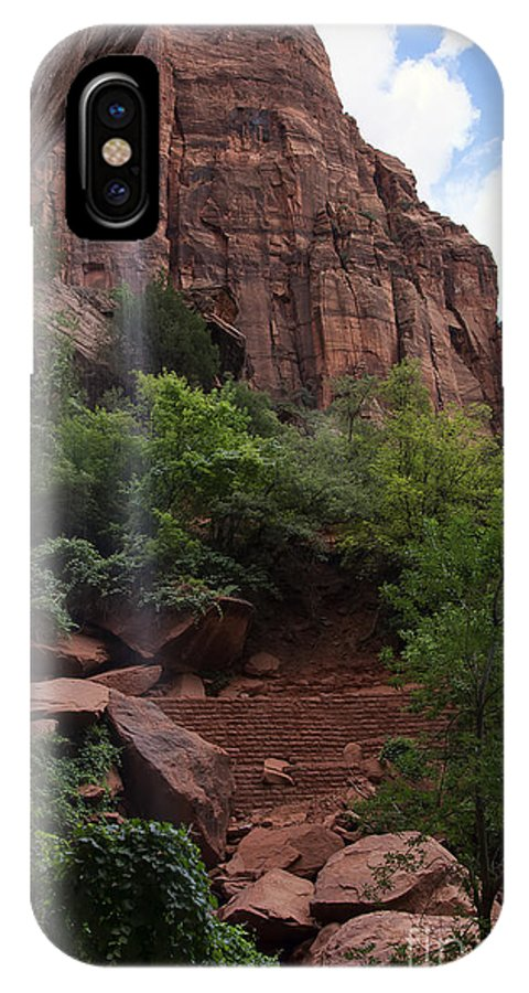 Zion IPhone X Case featuring the photograph Lower Emerald Pool by Eddie Yerkish
