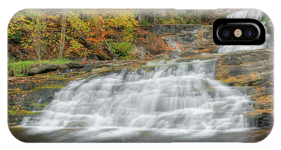 Square IPhone X Case featuring the photograph Lower Kent Falls Square by Bill Wakeley