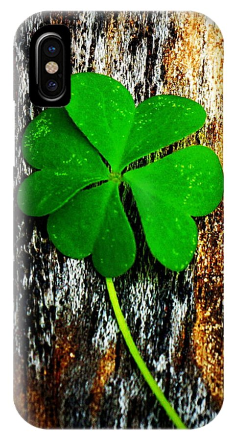 Clover IPhone X Case featuring the photograph Luck by Paul Wilford