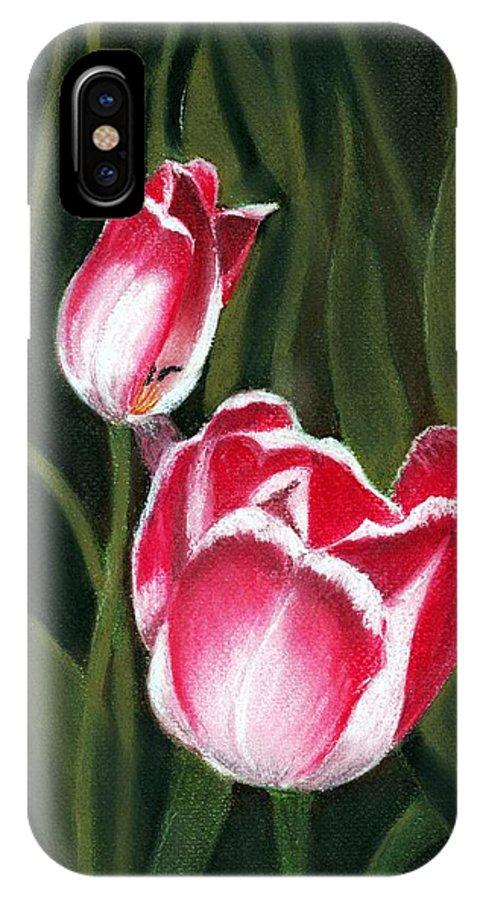 Plant IPhone X Case featuring the painting Luminous by Anastasiya Malakhova