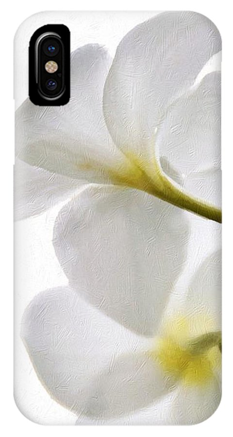 Luminous Plumeria IPhone X Case featuring the photograph Luminous Plumeria by Darla Wood