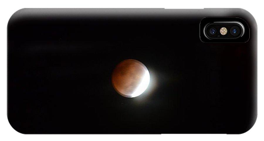 Lunar Eclipse 2014 IPhone X Case featuring the photograph Lunar Eclipse 2014 by Maria Urso