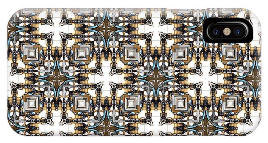 Kaleidoscope IPhone X Case featuring the digital art Lunatic Art by Ricky Jarnagin
