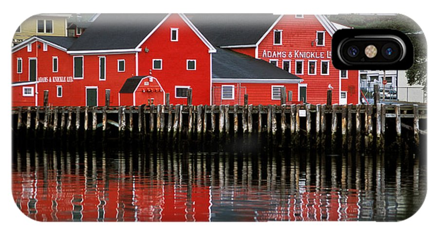 Lunenburg IPhone X Case featuring the photograph Lunenburg by Susan Degginger