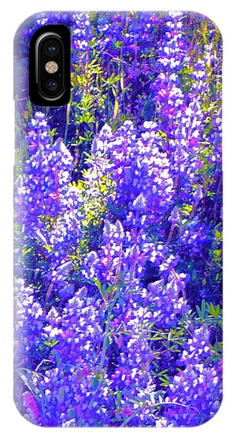 Flowers IPhone X Case featuring the photograph Lupine 2 by Pamela Cooper