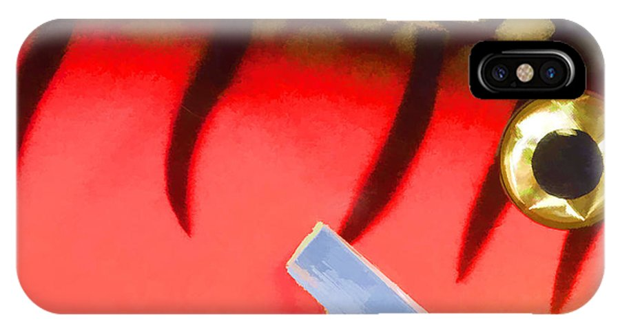 Lure IPhone X Case featuring the photograph Lure Close 5 by John Crothers