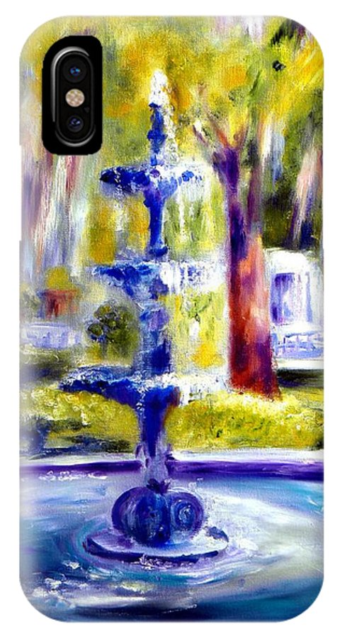 Savannah IPhone X Case featuring the painting Luv by Sandy Ryan
