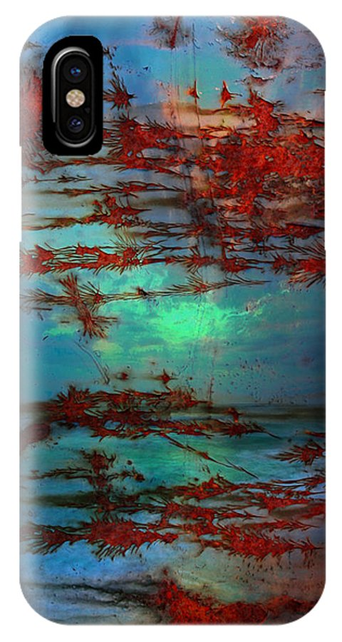 Rust IPhone X Case featuring the photograph Lying Skies by The Artist Project