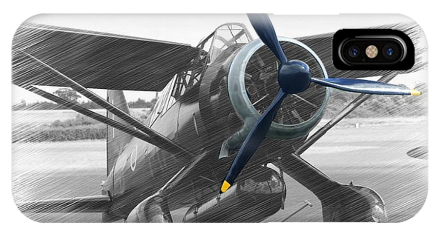 Vintage Aircraft IPhone X Case featuring the photograph Lysander In Readiness by Donald Turner