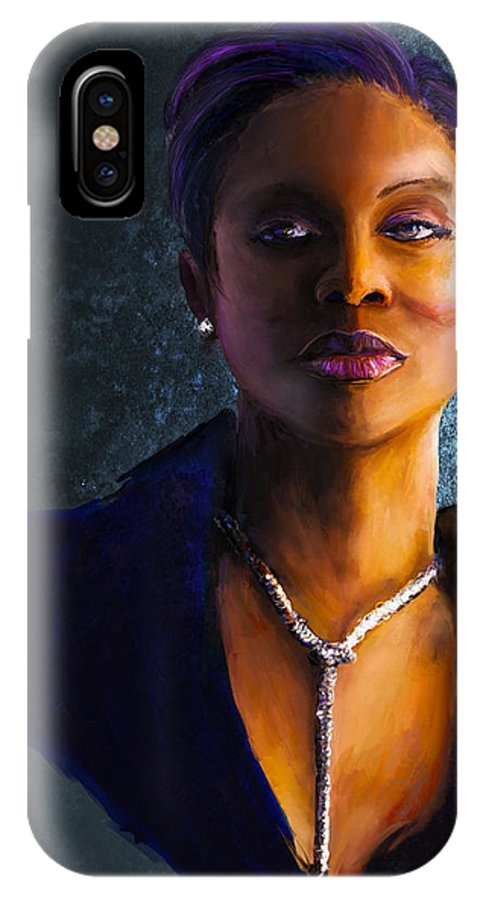 Hip Hop IPhone X Case featuring the digital art Lyte As A Rock by Howard Barry