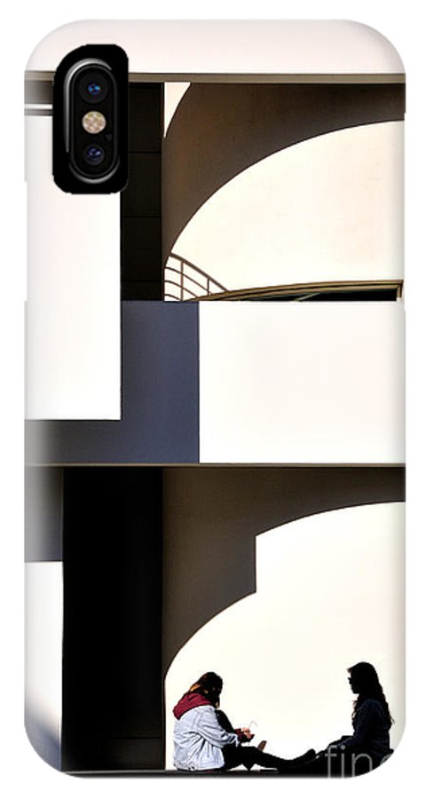 Museu D'art Contemporani IPhone X Case featuring the photograph Macba 1 by Phil Robinson