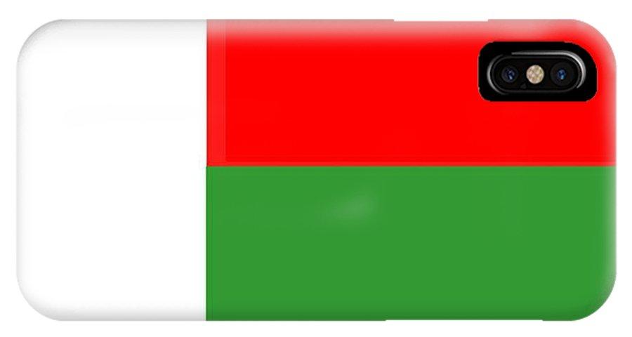 Madagascar. Flag IPhone X Case featuring the digital art Madagascar Flag by Frederick Holiday