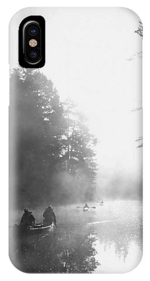 Sunrise IPhone X Case featuring the photograph Madawaska Morning by Richard Kitchen