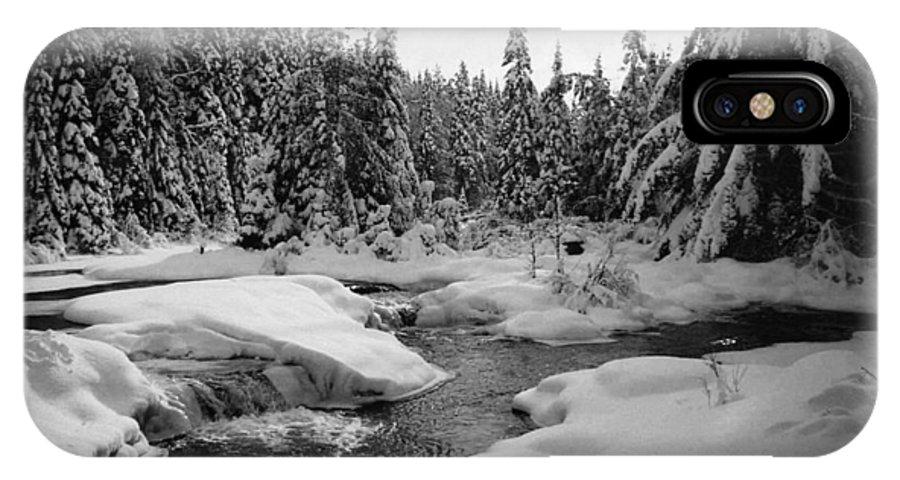 River IPhone X / XS Case featuring the photograph Madawaska River by David Porteus