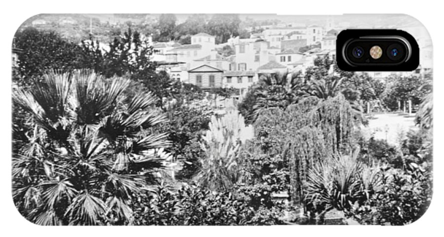 1903 IPhone X Case featuring the photograph Madeira Public Garden Old Fort 1903 by A Gurmankin