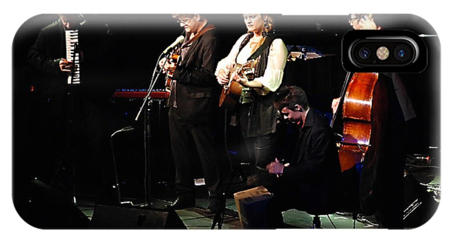 Live IPhone X Case featuring the photograph Madeleine Peyroux In Concert by Andrei SKY