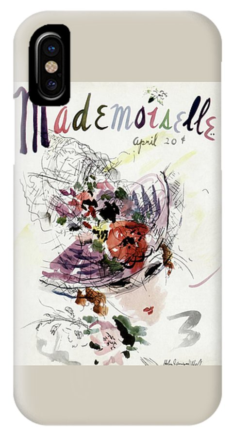 Fashion IPhone X Case featuring the photograph Mademoiselle Cover Featuring An Illustration by Helen Jameson Hall