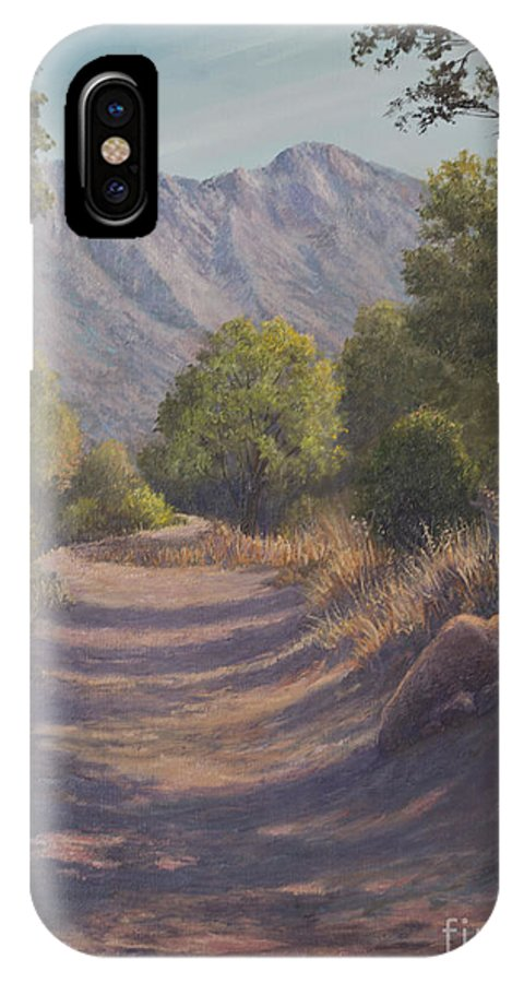 Oil Painting IPhone X Case featuring the painting Madera Canyon by Irene Leach