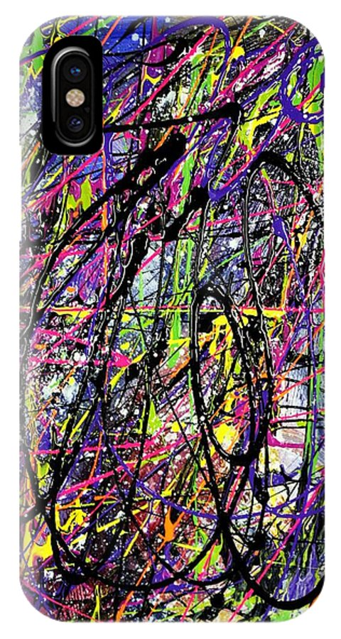 Mad IPhone X Case featuring the painting Madness by Patti Shonek