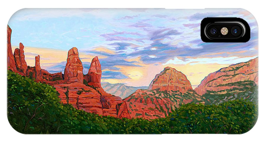 Madonna IPhone Case featuring the painting Madonna And Nuns - Sedona by Steve Simon