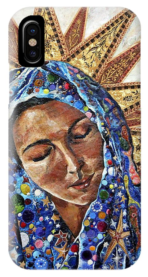 Madonna IPhone X Case featuring the painting Madonna Of The Dispossessed by Mary C Farrenkopf