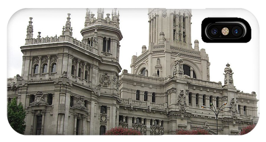 Madrid IPhone X Case featuring the photograph Madrid City Hall by Deborah Smolinske