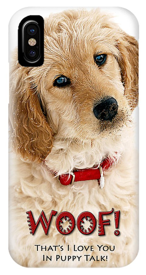 Card IPhone X Case featuring the photograph Maggie Woof by Mark Baker