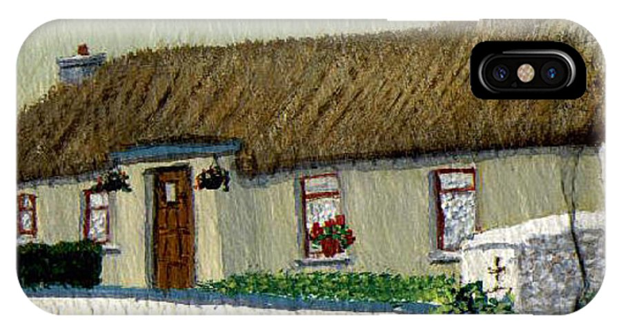 Thatched Cottage IPhone X Case featuring the painting Maggie's by Barbara McDevitt