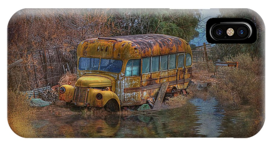 Schoolbus IPhone X Case featuring the photograph Magic Bus by Michael Gunterman