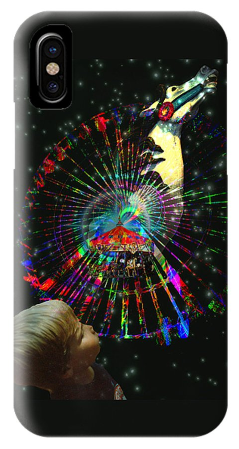 Magic IPhone X Case featuring the digital art Magic Faire by Lisa Yount