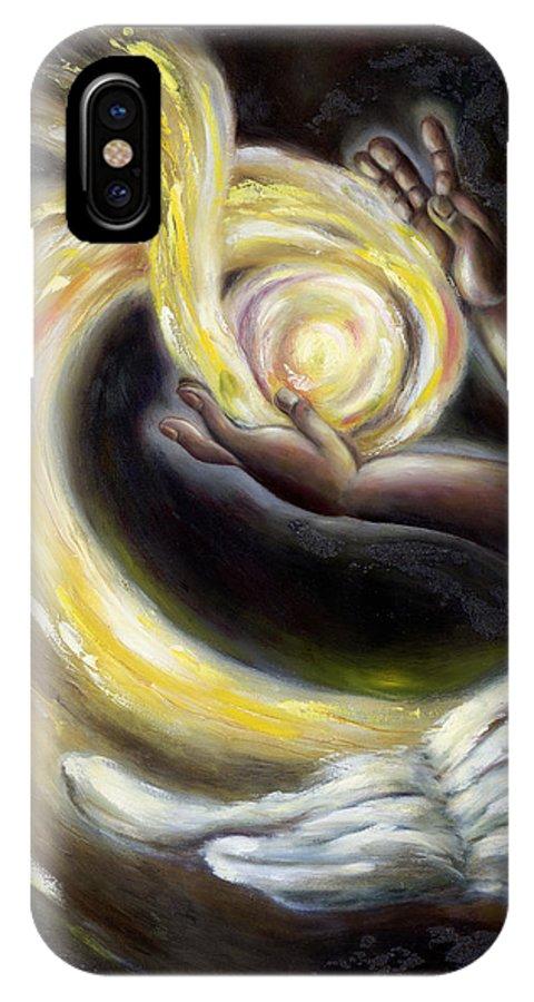 Angel IPhone X Case featuring the painting Magic by Hiroko Sakai