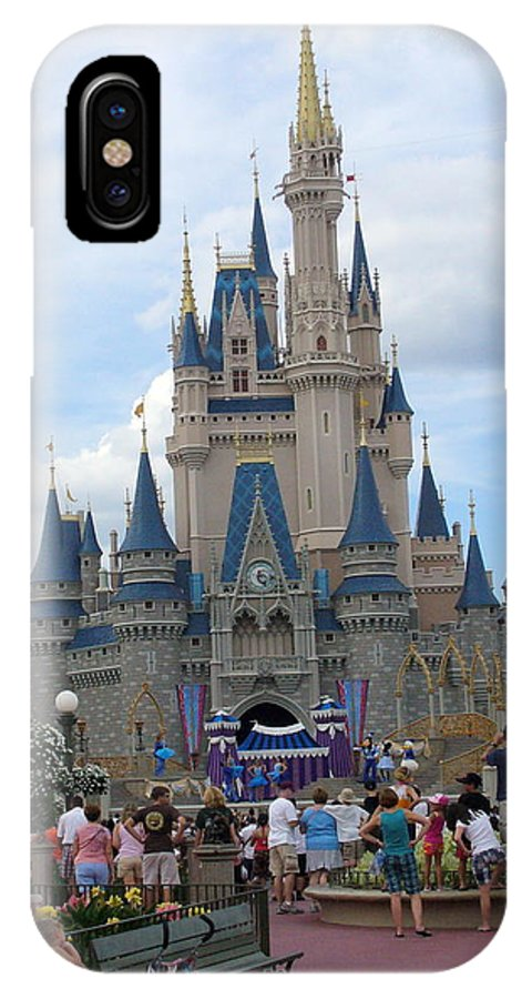 Cinderella Castle IPhone X Case featuring the photograph Magical Kingdom by Lingfai Leung