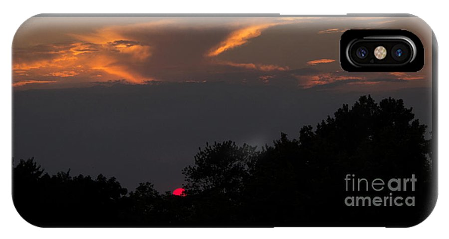 Sunset IPhone X Case featuring the photograph Magnificence by Ann Horn