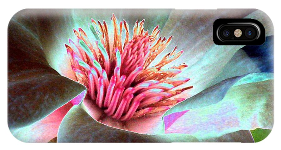 Magnolia IPhone X Case featuring the photograph Magnolia Flower - Photopower 1844 by Pamela Critchlow