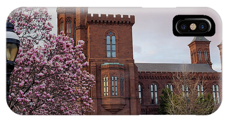 Andrew Pacheco IPhone X Case featuring the photograph Magnolias Near The Castle by Andrew Pacheco