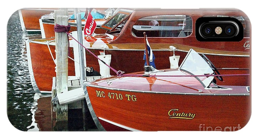 Century Boat IPhone X Case featuring the photograph Mahogany by Neil Zimmerman