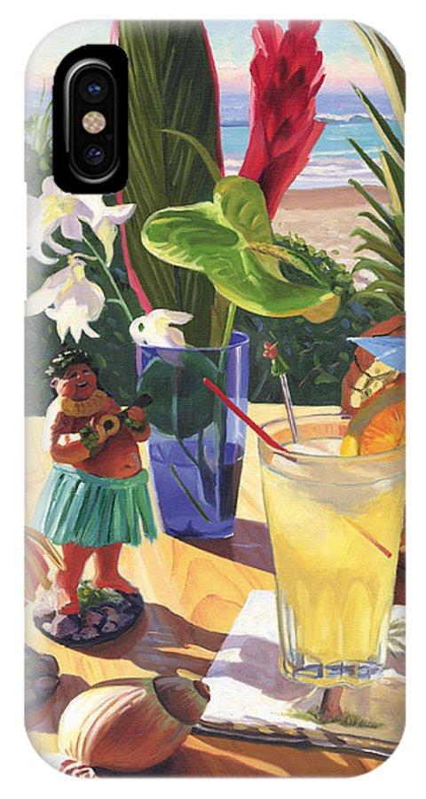 Mai Tai IPhone X / XS Case featuring the painting Mai Tai by Steve Simon