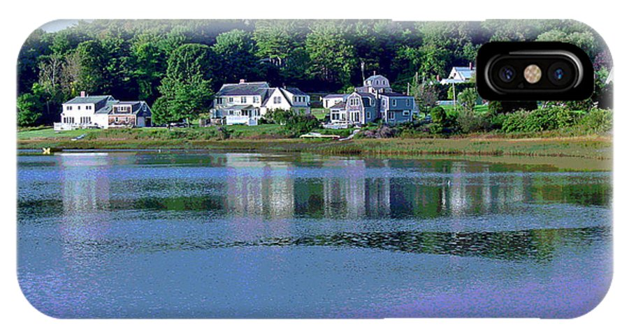 Maine IPhone Case featuring the photograph Maine Lakefront by Suzanne Gaff