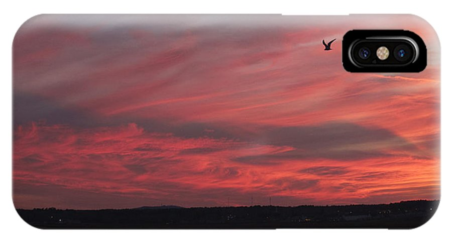New England Landscape IPhone X Case featuring the photograph Maine Sunset by Craig Bohanan