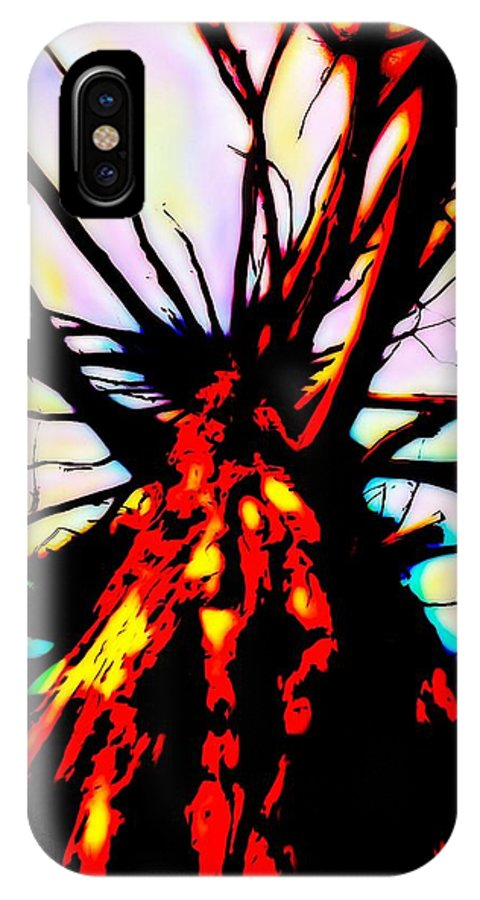 Fire IPhone X Case featuring the digital art Majestic Fire by Rich Ackerman