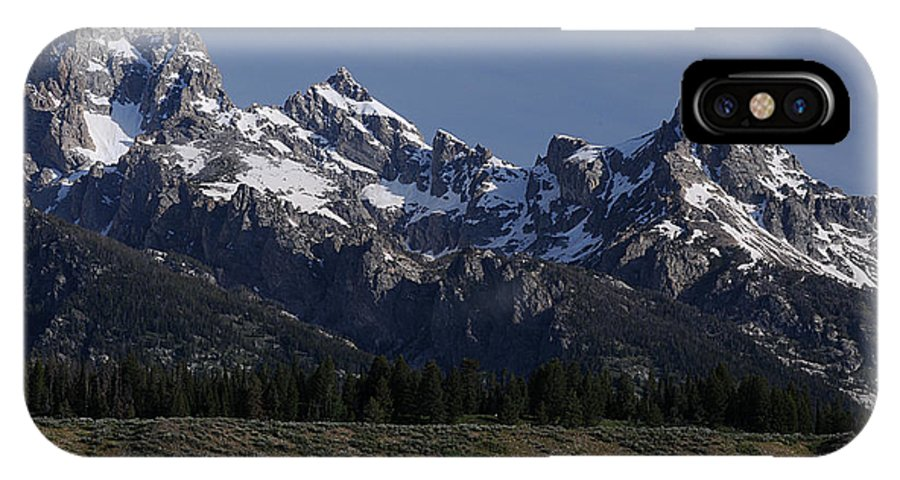 #mountains IPhone X Case featuring the photograph Majestic Tetons by Cyril Furlan